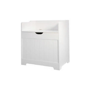 Photo of White Wood Tongue & Groove Storage Seat Household Storage