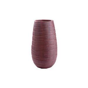 Photo of Tesco Terracotta Debossed Swirl Vase Brown Large Home Miscellaneou