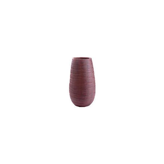 Tesco Terracotta Debossed Swirl Vase Brown Large
