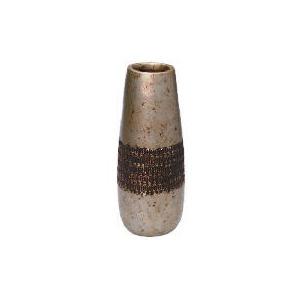 Photo of Tesco Terracotta Antique Finish Debossed Vase Large Home Miscellaneou