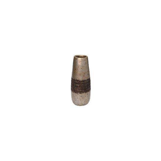 Tesco Terracotta antique finish debossed Vase large