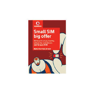 Photo of Vodafone 30 Day Contract SIM Sim Card