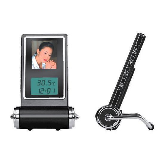 "Texet 1.5"" Digital Photo Frame & Travel Clock"