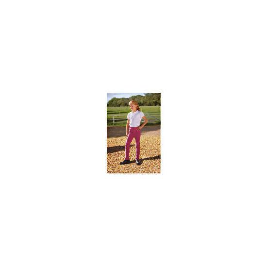 Tesco Girls Heavy Duty Jodhpurs, Pink, Age 9-10