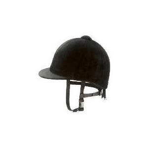 Photo of Tesco Black Horse Riding Helmet 57 cm Sports and Health Equipment