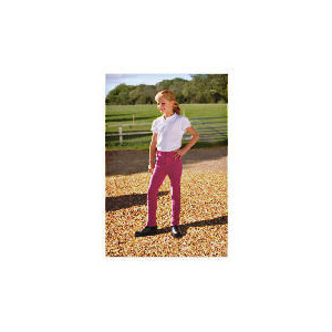 Photo of Tesco Girls Heavy Duty Jodhpurs, Pink, Age 7-8 Sports and Health Equipment