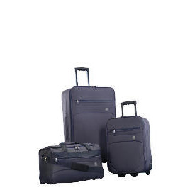 Crystal 3 Piece Set Large Trolley, Small Trolley Overnight Holdall Reviews