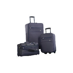 Photo of Crystal 3 Piece Set Large Trolley, Small Trolley Overnight Holdall Luggage