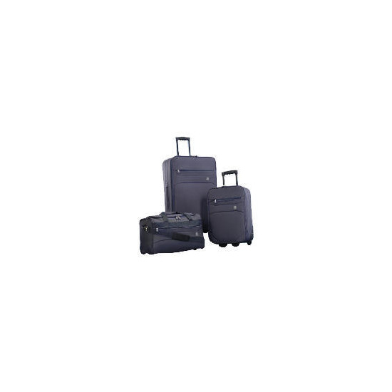 Crystal 3 Piece Set Large Trolley, Small Trolley Overnight Holdall