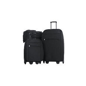 Photo of Classic 3 Piece Set Black , Large Trolley, Small Trolley and Overnight Holdall Luggage