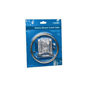 Photo of Croydex Wireline Shower Curtain Cable Bathroom Fitting