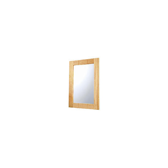 Light Wood Wall Mounted Mirror