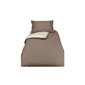 Photo of Tesco Reversible Single Duvet Set, Dark Natural Bed Linen