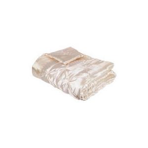 Photo of Tesco Satin Bedspread Double/King 200X220CM, Cream Bed Linen