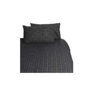 Photo of Tesco Lincoln Single Duvet Set, Graphite Bed Linen