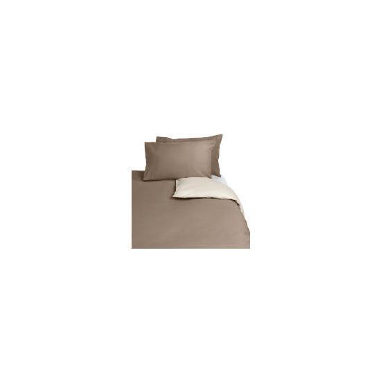 Tesco Reversible Kingsize Duvet Set, Dark Natural
