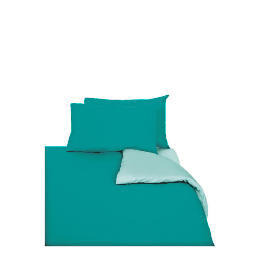 Tesco Reversible Duvet Set King, Aqua Reviews