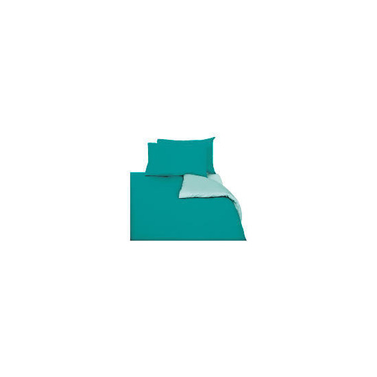 Tesco Reversible Duvet Set King, Aqua