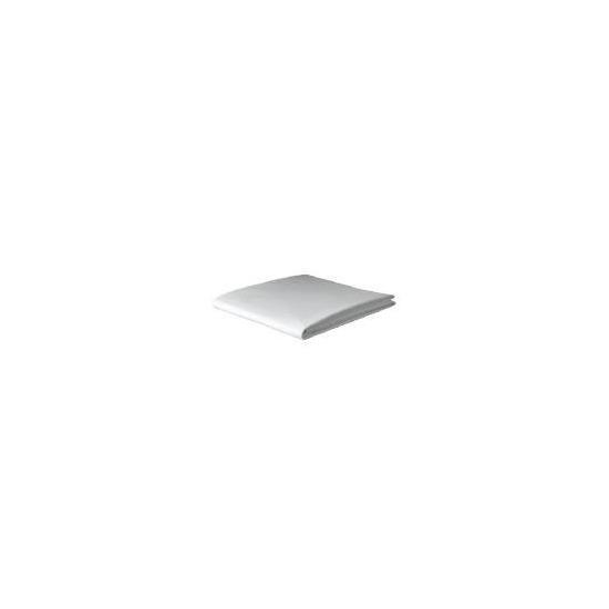Tesco Organic Cotton Single Flat Sheet, White