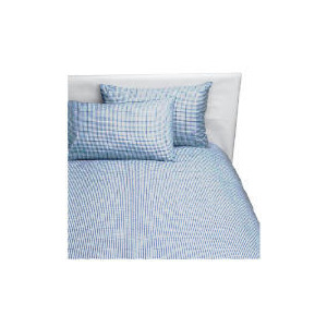 Photo of Tesco Value Gingham Single Duvet Set, Navy Bed Linen