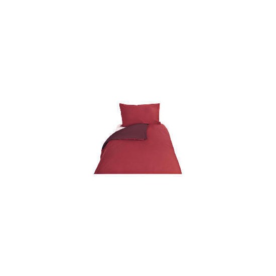 Tesco Reversible Single Duvet Set, Red
