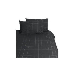 Photo of Tesco Lincoln Double Duvet Set, Graphite Bed Linen