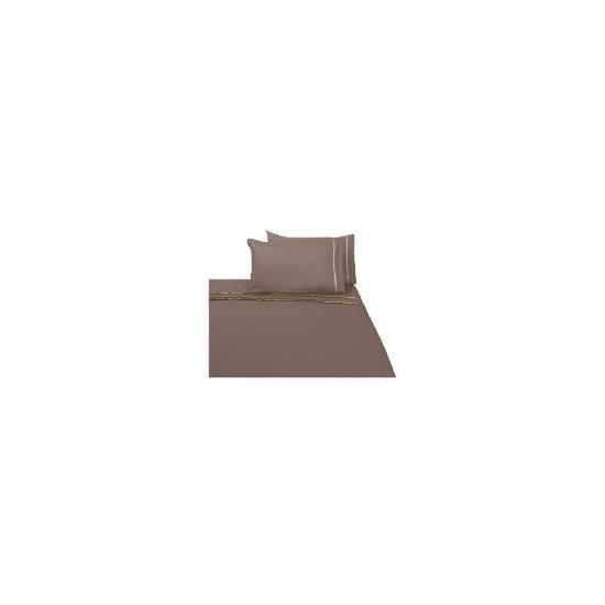 Finest Ribbon King Duvet Set, Cocoa