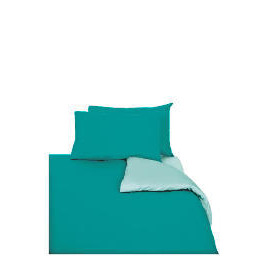 Tesco Reversible Single Duvet Set, Aqua Reviews