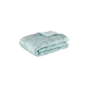 Photo of Tesco Satin Bedspread Double/King, Aqua 200X220CM Bed Linen