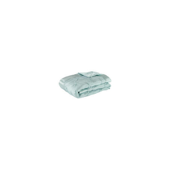 Tesco Satin Bedspread Double/King, Aqua 200x220cm