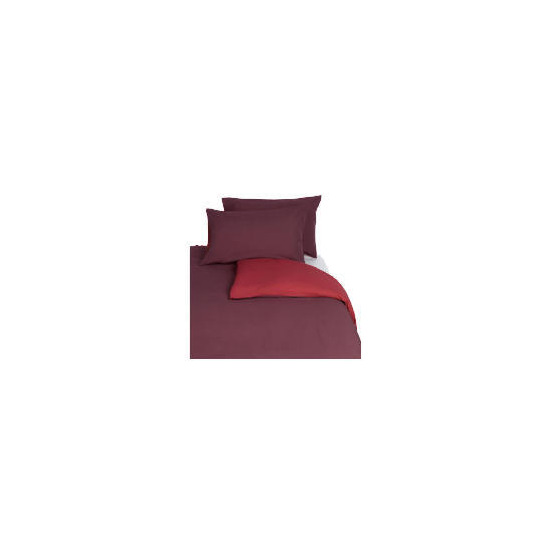 Tesco Reversible Double Duvet Set, Red
