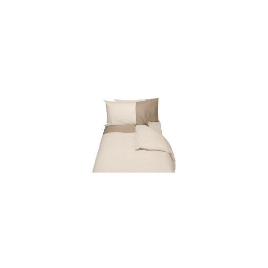 Finest Top Cuff King Duvet Set, Cream & Biscuit