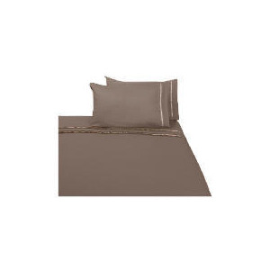 Photo of Finest Ribbon Double Duvet Set, Cocoa Bed Linen