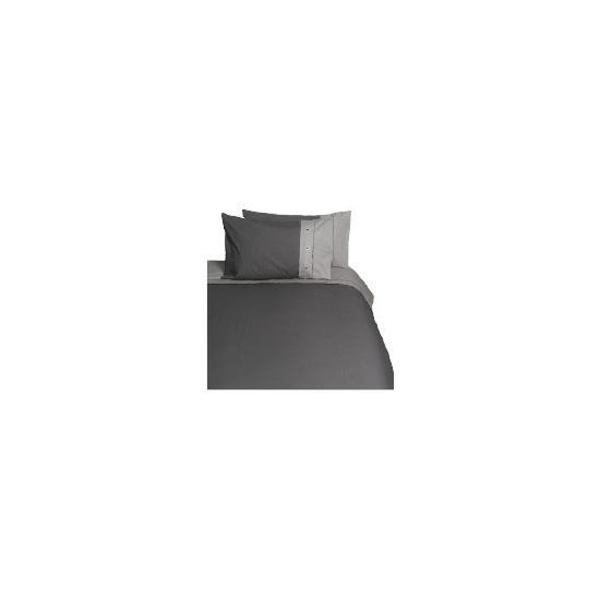 Tesco Loft Single Duvet Set, Neutral/Graphite