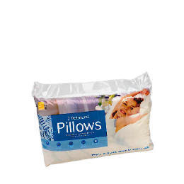 Tesco Rebound Cotton Cover Pillow, Twinpack Reviews