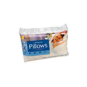Photo of Tesco Rebound Cotton Cover Pillow, Twinpack Bedding