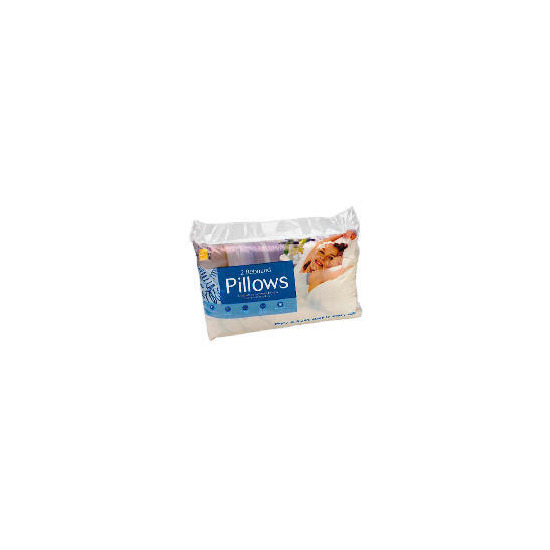 Tesco Rebound Cotton Cover Pillow, Twinpack