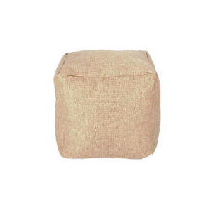 Photo of Tesco Faux Barkweave Bean Cube, Natural Furniture