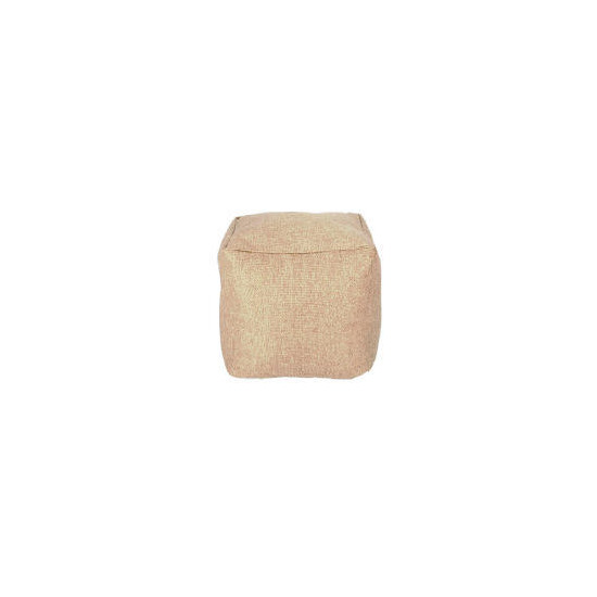 Tesco Faux Barkweave Bean Cube, Natural