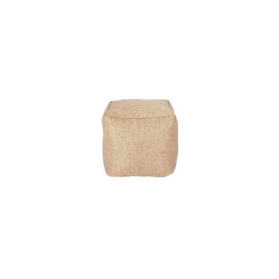 Tesco Faux Barkweave Bean Cube, Natural