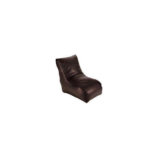 Tesco Faux Leather Lofa Chair, Chocolate