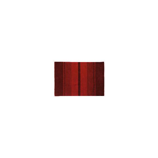 Tesco Striped Rug, Red 90x150cm