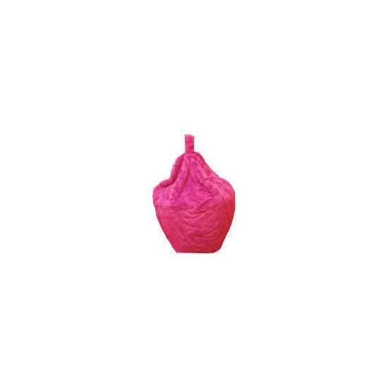 Kids' Faux Fur Beanbag, Pink