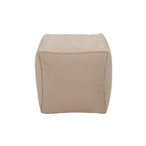 Photo of Tesco Faux Suede Bean Cube, Stone Furniture