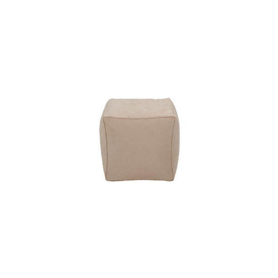 Tesco Faux Suede Bean Cube, Stone