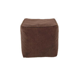 Photo of Tesco Faux Suede Bean Cube, Chocolate Furniture