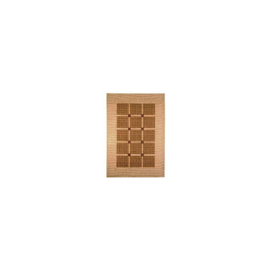 Tesco Flatweave Rug Squares, Natural 120x170cm