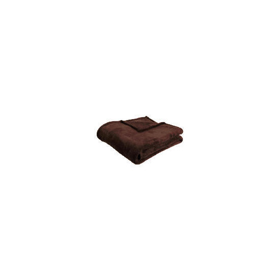 Tesco Supersoft Throw, Chocolate