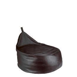 Tesco Faux Leather Bean Pod Chair, Chocolate Reviews