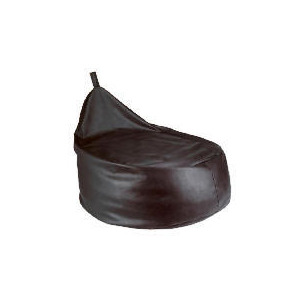 Photo of Tesco Faux Leather Bean Pod Chair, Chocolate Furniture